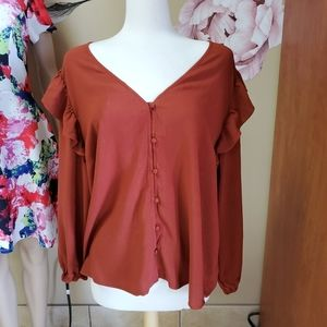New Universal Threads Long Sleeve Blouse